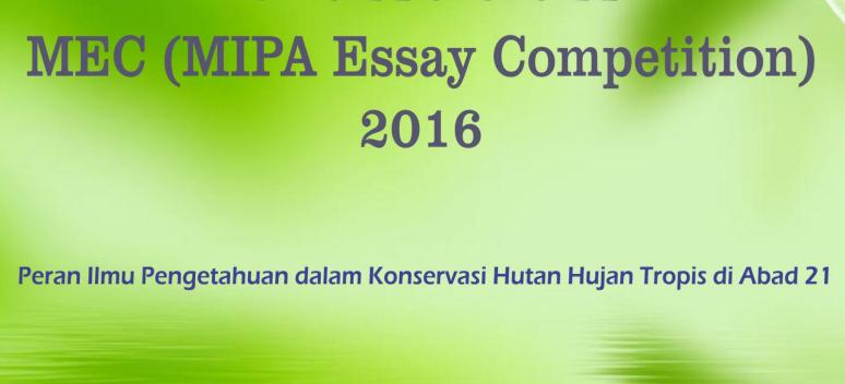 Pengumuman Finalis MIPA Essay Competition 2016