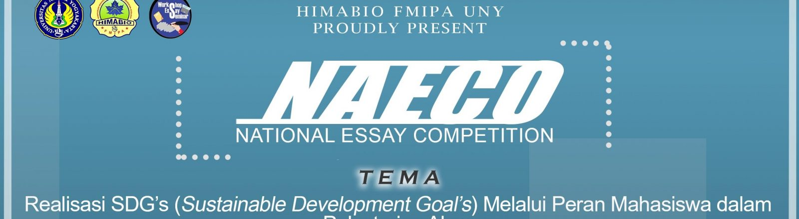 National Essay Competition (NAECO) 2018